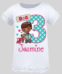 $18.99 Doc McStuffins Pet Vet Personalized Birthday by BerryBestTees