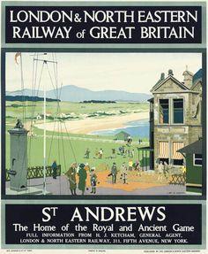 LNER vintage poster St Andrews