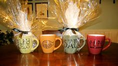 DIY Personalized mugs! So simple.