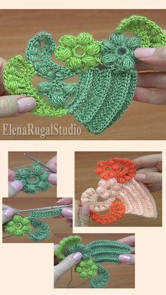 Spiral Crochet, Freeform Crochet, Love Crochet, Crochet Motif, Crochet Flowers, Crochet Stitches, Crochet Basics, Knit Crochet, Crochet Patterns