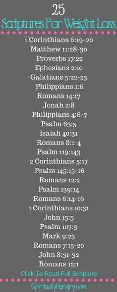 Scriptures for weight loss