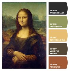 Mona Lisa - as seen through Sherman Williams chip it - upload a photo and match it to paint chips