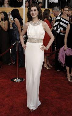 Anne Hathaway - amazing actress, beautiful Azzaro dress
