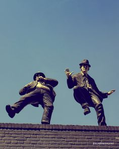 Art Photography Print - Everybody needs somebody to love - Blues Brothers on a roof in Amsterdam
