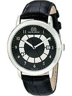 88 Rue du Rhone Men's 87WA130019 Analog Display Swiss Quartz Black Watch ❤ 88 Rue du Rhone MFG Swiss Made Watches, Rhone, Men, Guys