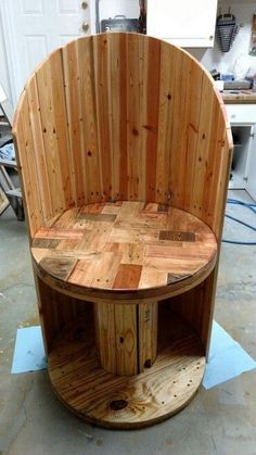 Wood Pallet and Cable Reel Chair