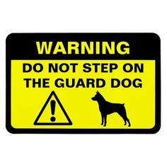 Miniature Pinscher Humorous Guard Dog Warning #minpin