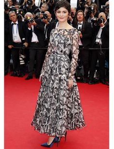 Audrey Tautou in Prada - First Day of Cannes 2014