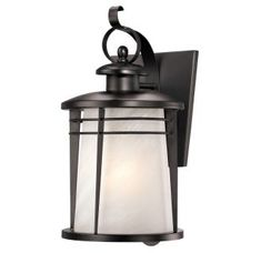 """View the Westinghouse 6674200 16.25"""" Tall 1 Light Outdoor Lantern Wall Sconce from the Senecaville Collection at Build.com."""