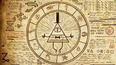 Gravity Falls - Bill Cipher wheel by on DeviantArt Gravity Falls : Journal, Gravity Falls Secrets, Libro Gravity Falls, Gravity Falls Codes, Gravity Falls Bill Cipher, Gravity Falls Illuminati, Dipper E Mabel, Mabel Pines, Cipher Wheel