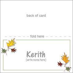 Placecard Printables