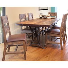 Antique 5 Piece Rectangle Dining Set | American Home Furniture Store And  Mattress Center |