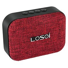 Bluetooth Speakers Losei V4.2 Portable Stereo Wireless Speaker Mini Fabric Sound with Build-in Mic and Rechargeable Battery for iPhone iPad Samsung and Most Androids Phones (Red)