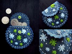 Felt Coin Purse by TheEscapedArtist on Etsy, $13.00