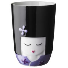 Kokeshi Girl Thermal Cup Purple