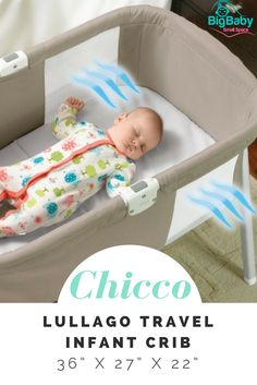 The Chicco LullaGo Portable Bassinet provides baby with a soft and comfortable place to sleep at any time: at home, on vacation, or visiting family.