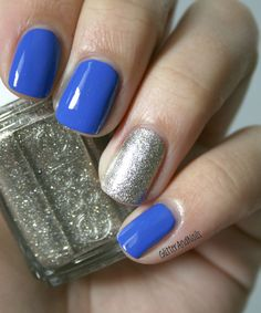 Glitter and Nails: Blue Christmas. Essie Butler Please + Beyond Cozy