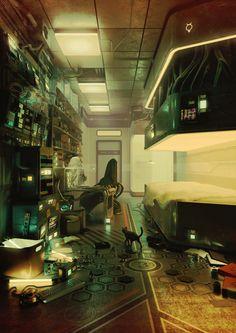 Safe at home : Cyberpunk Cyberpunk City, Cyberpunk Kunst, Cyberpunk Aesthetic, Cyberpunk Tattoo, Cyberpunk Fashion, Cyberpunk 2077, Spaceship Interior, Futuristic Interior, Spaceship Design