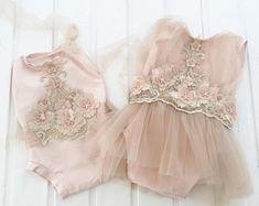 Cod273 Newborn cotton lace mini dress sitter size photo