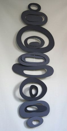 Recycled Foam Board Mobile Black by artomik on Etsy, $38.00