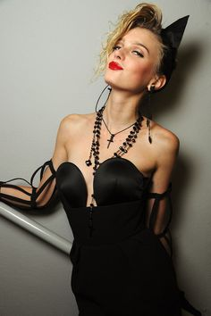Sigrid Agren at Jean Paul Gaultier Spring 2013 #backstage #ss13 #pfw