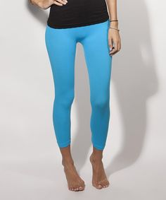 Look what I found on #zulily! Turquoise Capri Leggings #zulilyfinds