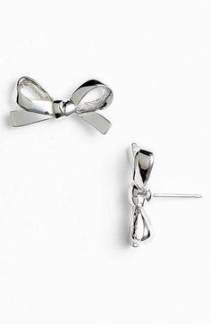 """Check out """"kate spade new york 'skinny mini' bow stud earrings 