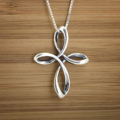 Celtic Infinity Cross Pendant - STERLING SILVER - (Just the pendant, chains are sold separately.)