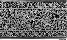 Late 16th c. Italian needle lace (108 x 8 in.) - Met Museum 51.96.14