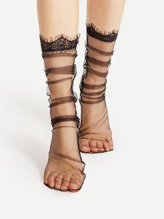 Mesh Socks, Sheer Socks, Lace Socks, Socks And Heels, Ankle Socks, Cabin Socks, Cozy Cabin, Grip Socks, Silk Stockings