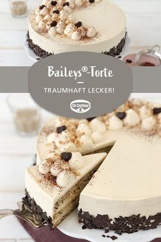 Baileys®-Torte # Baileys®-Torte: Eine sahnige Torte mit Alkohol zu Feiertagen - Baileys®-Torte # Baileys®-Torte: Eine sahnige Torte mit Alkohol zu Feiertagen Baileys® cake # Baileys® cake: A creamy cake with alcohol for holidays party board Beef Pies, Mince Pies, Food Cakes, Baileys Cake, Baileys Dessert, Cake Recipes, Dessert Recipes, Baking Desserts, Avocado Dessert