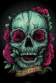 Tattoo Idea! Stay Gold Skull