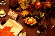 Last-minute holiday table decorations #thanksgiving #table #decor #craft #DIY #holiday