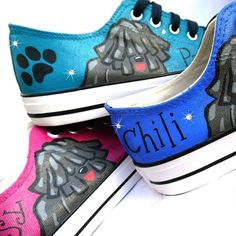 izapas shared a new photo on Etsy Painted Converse, Painted Sneakers, Dog Lover Gifts, Dog Lovers, Pumi Dog, Dog Paintings, Shoe Boots, Shoes, Vans