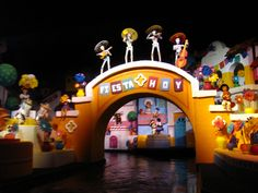 """Even Disney does the Day of the Dead at """"The Gran Fiesta Tour Starring the Three Caballeros"""" water ride inside of the Mexico Pavilion in Epcot's World Showcase."""