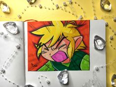 Let's draw Link from The Legend Of Zelda - 74 - Starlene Honey The Minish Cap, White Gel Pen, Spectrum Noir, Tombow, Mechanical Pencils, Gel Pens, Legend Of Zelda, Colored Pencils, Fanart