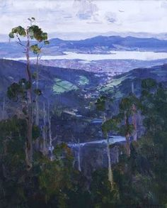 Hobart from the Slopes of Mount Wellington by Arthur Streeton