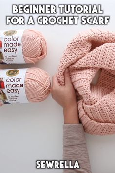 How to Crochet a Scarf - free beginner tutorial & pattern This scarf is an easy, beginner pattern that was made for first time crocheters! My video tutorial Tunisian Crochet, Learn To Crochet, Crochet Shawl, Crochet Stitches, Knit Crochet, Easy Crochet Scarf Patterns, How To Crochet A Scarf, Crochet Ideas To Sell, Things To Crochet