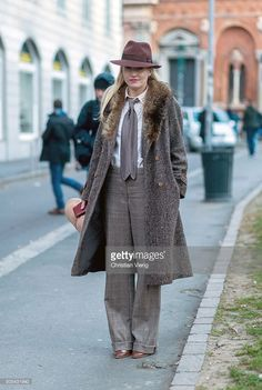 Sarah Ann Murray outside Missoni during Milan Men's Fashion Week Fall/Winter 2016/17 on January 17, 2016, in Milan, Italy
