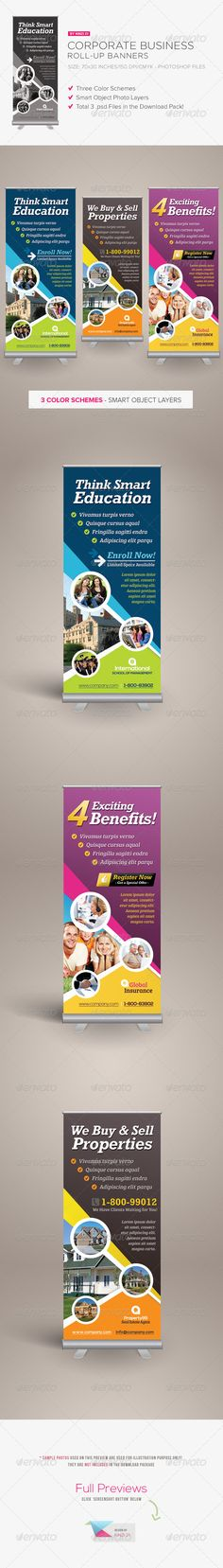 Corporate Business Roll-up Banner Template PSD. Download here: http://graphicriver.net/item/corporate-business-rollup-banner/3740415?s_rank=46&ref=yinkira