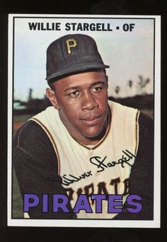 6412dbbdb6373 1967 Topps Willie Stargell Baseball Card Value Price Guide