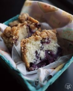 "Blueberry Coffeecake ""This blueberry coffee cake recipe has been in my family for many years. Its xeroxed copy has ""Excellent!"" written all over it, and it definitely is""."