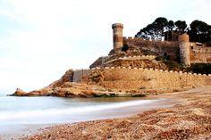 Platja Gran Beach near the Castle of Tossa de Mar