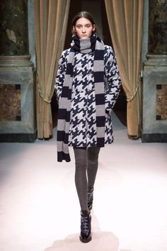 Look 26 from Fay Women's Fall - Winter 2014/15 collection seen on the catwalk.