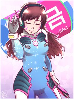 Overwatch Salt Bae - More at https://pinterest.com/supergirlsart/ d.va #dva #overwatch #fanart