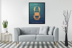 Excited to share the latest addition to my #etsy shop: Porsche 964 poster art, ideal for livingroom or diningroom, porsche wall art, printable art