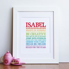 Inspirational Rainbow Bus Scroll - nursery wall art print 8x10. $16.00, via Etsy. Madison's birthday
