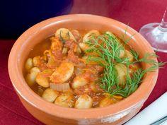 Gigandes or Greek baked beans.