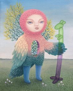 All is mine i'm all 🌞 #shelestart #painting #popsurrealism #lowbrowart #lowbrow #contemporaryart #mimoza