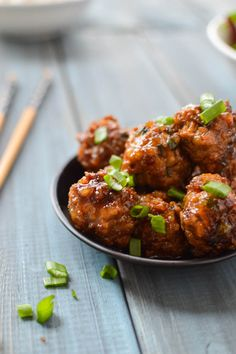 These 15 Minute Asian Meatballs are coated in a Soy, Ginger, and Honey Glaze that will have your taste buds dancing.